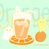【イラスト】オレンジジュース