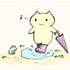 うさぎさんがくるくる~っとするGIFアニメ