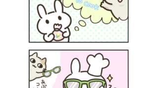 【イラスト】うさぎちゃん、ポップコーンを作る