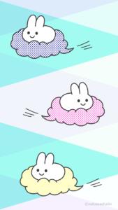 雲に乗ったうさぎさん